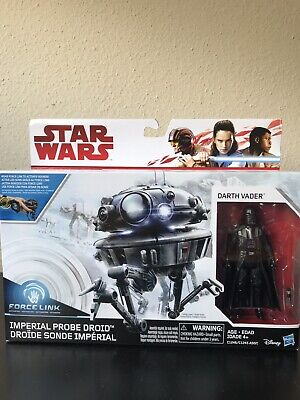 Star Wars Force Link Imperial Probe & Darth Vader Figure New In Box