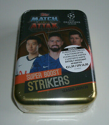 Topps Match Attax Champions League 2019/2020 - Mega Tin Super Boost Strikers