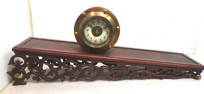 Rolling Plane Clock--Never Wind It With A Key--WONDERFUL CLOCK--Porcelain Dial