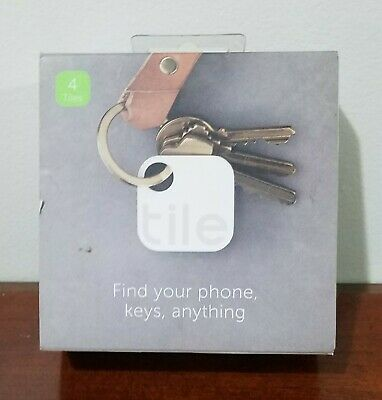 Tile Bluetooth Smart Tracker Find your Phone, Keys ,Anything 4 Pack