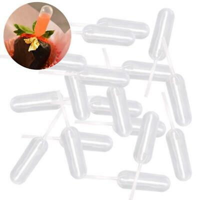 100 Clear Plastic Squeeze 4ml Transfer Oils Liquid Pipettes Cupcakes Dropper Ge