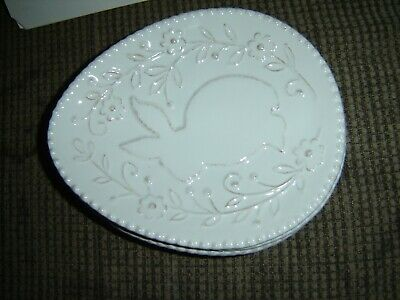 """OVAL SHAPE EASTER BUNNY PLATE WITH FLOWERS 9""""x7"""""""