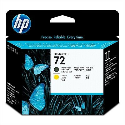 New Genuine HP 72 Matte Black and Yellow DesignJet Printhead