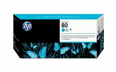 HP 80 Cyan DesignJet Printhead and Printhead Cleaner