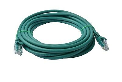 8WARE Cat 6a UTP Ethernet Cable, Snagless  - 7m Green LS