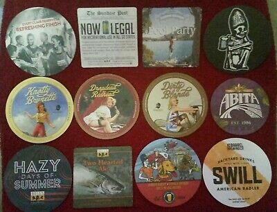 US Craft beer coasters lot (12) - NEW - LOOK GREAT ~ Hard to find coasters
