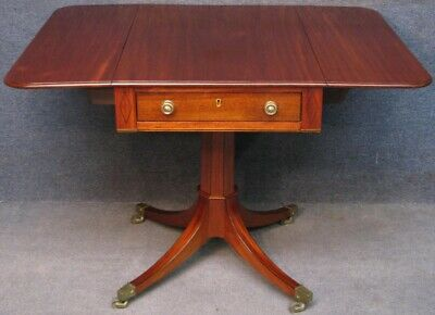 Regency Mahogany Single Pedestal Pembroke Table