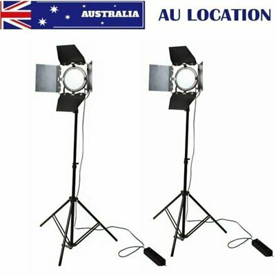 2Pcs 65W LED Red Head Continuous Light w/ 2m Light Stand for Photo Video Light