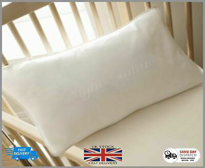 COT BED PILLOW JUNIOR, TODDLER, BABY - Anti-Allergy SAFETY PILLOW 40cm x 60cm