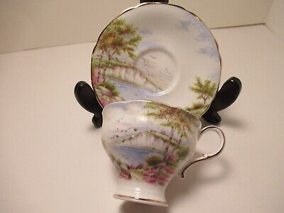 """Paragon Eng China Demitasse Tea Cup & Saucer """"Cliffs Of Dover"""" Exc. Cond!!!"""