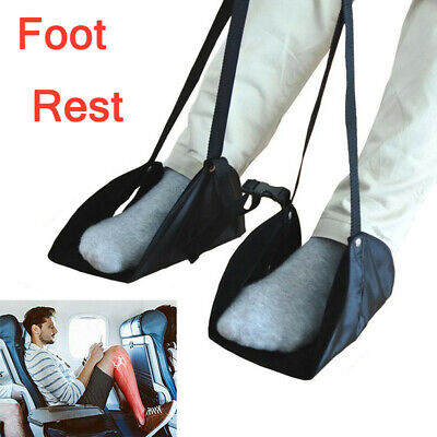 Comfy Hanger Travel Airplane Footrest Hammock Made Premium Memory Foam Foot US