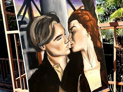 Titanic Jack and Rose Painting - Acrylic colors on Canvas - 60x50 cm