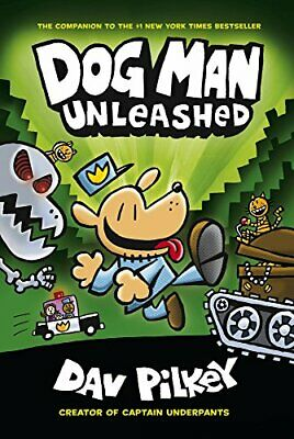 The Adventures of Dog Man: Unleashed, Pilkey 9780545935203 Fast Free Shipping+-