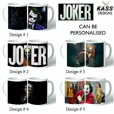 Personalised Mug JOKER Name Text Tea Coffee Cup Fun Movie Family Xmas Gift