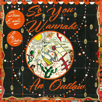 Steve Earle and The Dukes : So You Wannabe an Outlaw CD Deluxe  Album with DVD