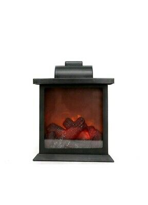 Flameless Flickering LED Light Fireplace Portable Battery Operated Fake Fire
