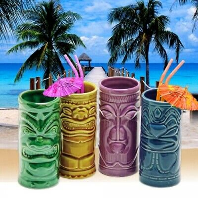 Tiki Mugs coole Cocktailgläser 4-er Set
