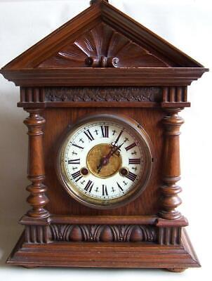 Attractive Antique Oak Cased Mantle Clock. A/F.