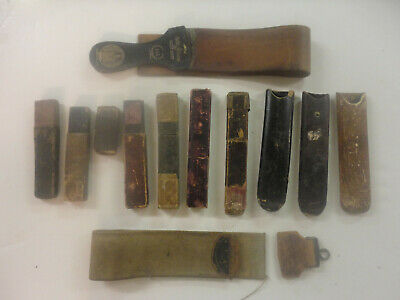 VINTAGE LOT OFStraight Razor Boxes & Strops