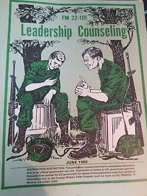Book US Army FM 22-101 Training Tech Field LEADERSHIP COUNSELING 1985 #1