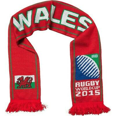 RWC Rugby World Cup 2015 Official Merchandise - Wales Flag Knitted Scarf BNWT