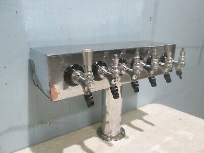 Commercial Heavy Duty Base Mount 6 Heads Draft Beer Tapper Dispenser Tower