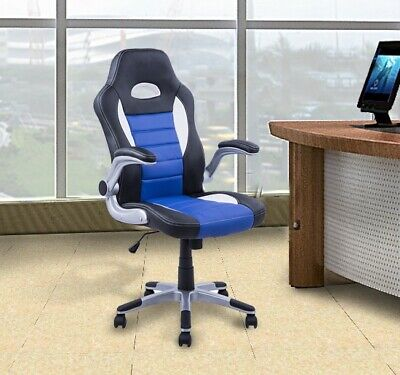 Racing Gaming Swivel PU Leather Home Office Reclining Computer Executive Chair