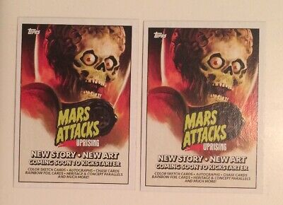 NYCC 2019 Topps Mars Attacks Uprising P1 Promo Trading Card Collectible Pair
