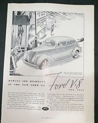 Other Car & Truck Manuals & Literature 1937 FORD 60 HP SALES ...