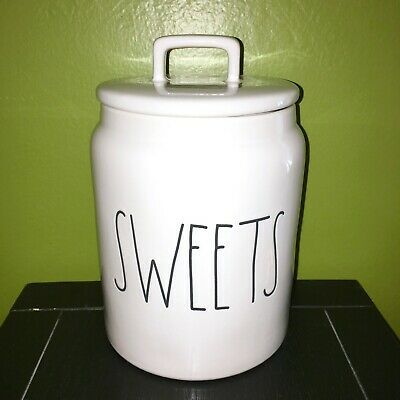 """New RAE DUNN Artisan Collection LL """"SWEETS"""" 7.5"""" Canister By Magenta"""