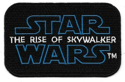 Star Wars Episode IX: The Rise of Skywalker Name Logo Embroidered Patch NEW