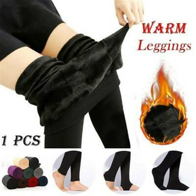 Women Winter Thick Warm Fleece Lined Thermal Stretchy Skinny Leggings Pants~UK