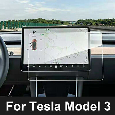"""15"""" Touch Screen Protector Film Tempered Glass Transparent For Tesla Model 3"""