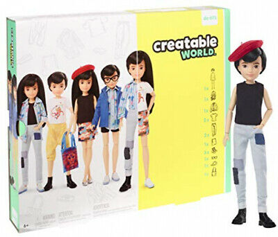 Creatable World Deluxe Character Kit Customizable Doll, Black Hair Kid Toy Gift