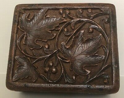 Small Antique Black Forest Wooden Jewellery/Trinket Box Treen