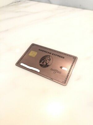 ROSE GOLD American Express AMEX Card Limited Edition Rare