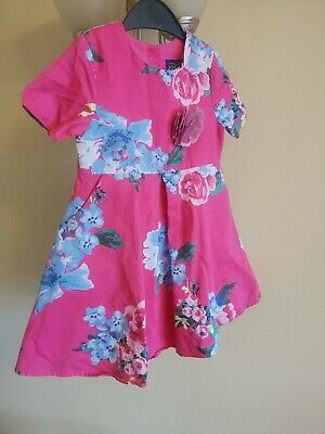 Girls Pink Floral Joules Dress Lined Age 3 Years Beautiful