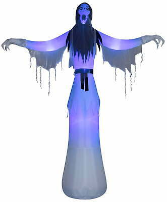 Female Phantom Spooky Ghost Giant Airblown Inflatable Halloween Home Decor 12 ft