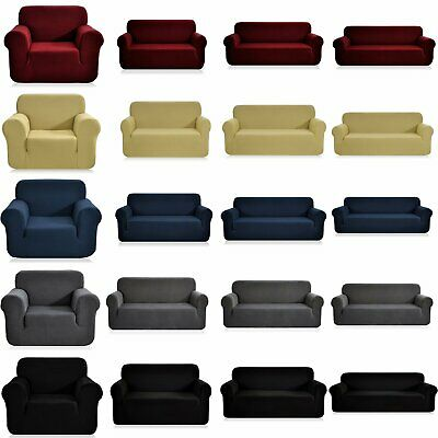 1 2 3 4Seater Stretch Sofa Cover Protector Couch Lounge Recliner Chair Slipcover
