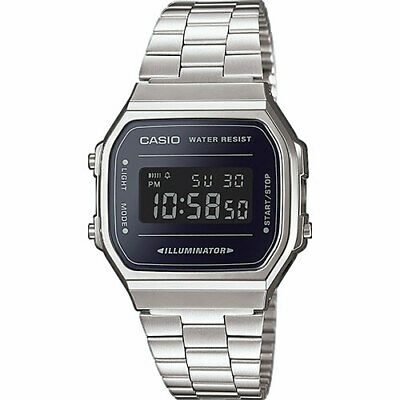Casio Orologio A168WEM-1EF Steel Black Illuminator Data Novita'