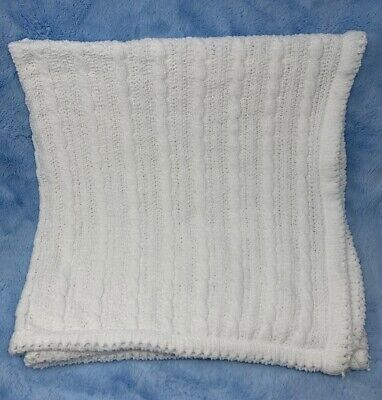 Tiddliwinks pure white Cable Knit Chenille Baby Blanket from Target