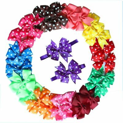 100pcs Pet  Cat Dog Bow Ties Fashion Popular Supplies Flower Bowties Collar Smal