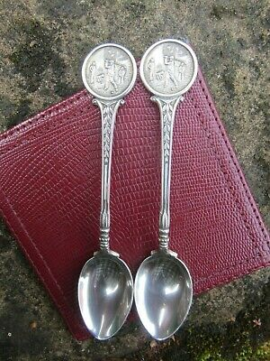 Silver Golfing Tea Spoons Walker + Hall LAGA Hallmark B`ham 1963/4 Ladies Golf