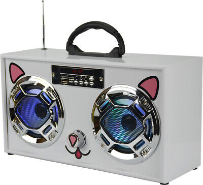Wireless Express WE-BB-Cat Mini Boom Box (Cat)