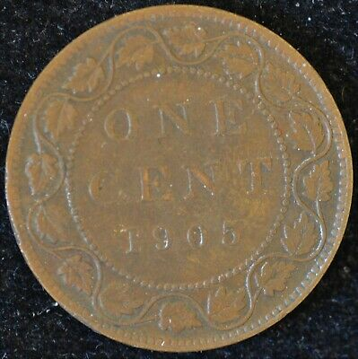 1905 VERY FINE Canadian Large Cent #1