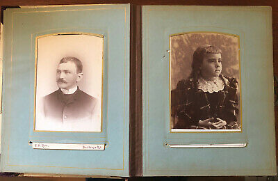 Rhode Island Family Cabinet Card + CDV Album From 1880s
