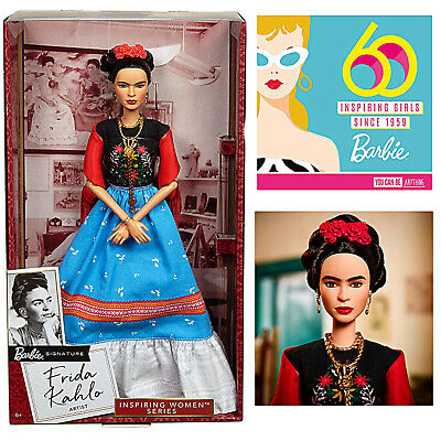Frida Kahlo Barbie Doll Inspiring Women Mexican Iconic Artist NEW Collect Gift