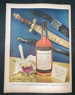 Life Magazine Ad OLD FORESTER WHISKY 1946 Ad