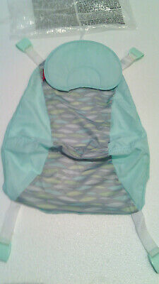 New Replacement Sling For Fisher Price Sling 'N Seat Baby Tub Blue Grey Part