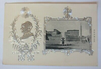 Pope Leo Vatican Pope XIII 1900, Embossed Postcard with Silver Print (54200)
